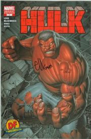 Hulk #1 Dynamic Forces Keown Variant Signed Ed McGuinness DF COA First Red Hulk Marvel comic book